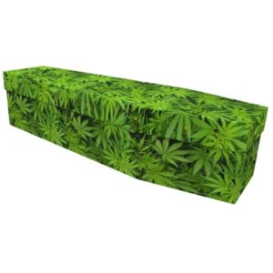 Marijuana Cardboard Coffin