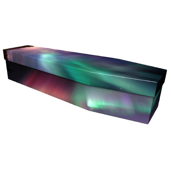 Northern Lights Cardboard Coffin