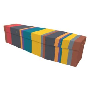 Stripe Cardboard Coffin