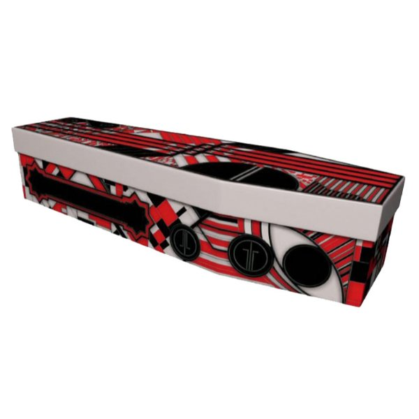 Art Deco Cardboard Coffin