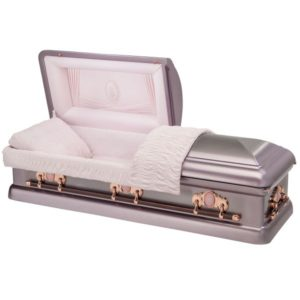 Coral Jewel - Steel American Casket Coffin