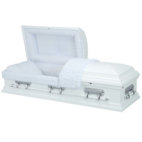 Essence White - Wooden American Casket Coffin