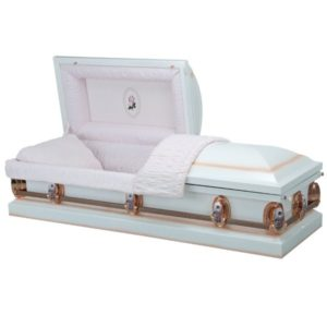 Eternal Rose  - Steel American Casket Coffin