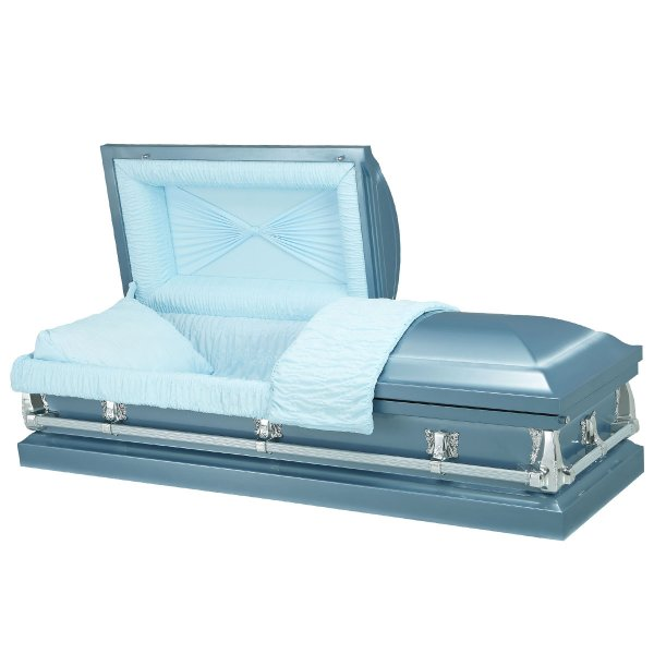 Neptune Blue - Steel American Casket Coffin