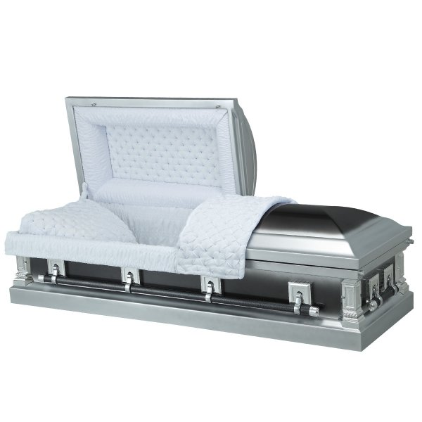 Nightfall Silver - Steel American Casket Coffin