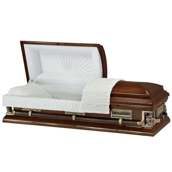 Passion of Christ - Wooden American Casket Coffin