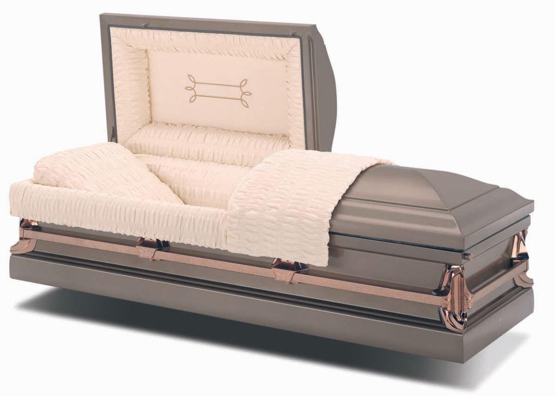 Vintage Steel American Casket Coffin